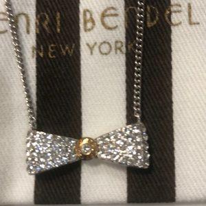 Henri Bendel bow necklace NWOT